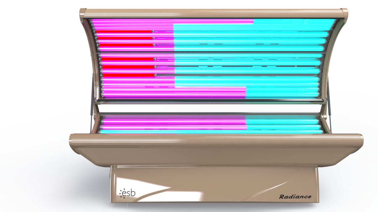 radiance 26 trio home tanning bed