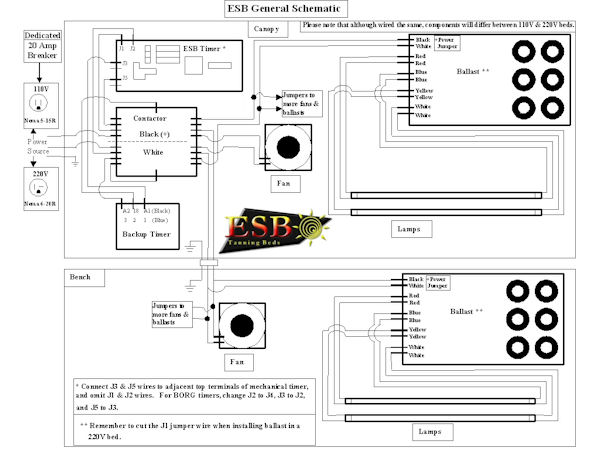 general schematic new esb tanning beds on sale, replacement lamps, bulbs and repair wolff tanning bed wiring diagram at soozxer.org